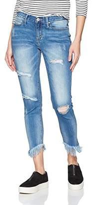 UNIONBAY Women's Duffy Asymhemetrical Skinny Jean