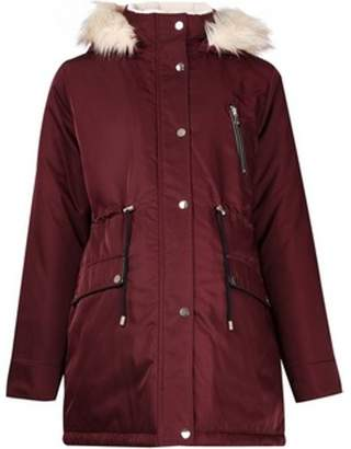 Dorothy Perkins Womens **Maternity Burgundy Luxe Parka Jacket