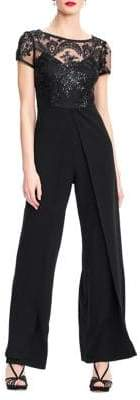 Adrianna Papell Sequined Knit Crepe Jumpsuit