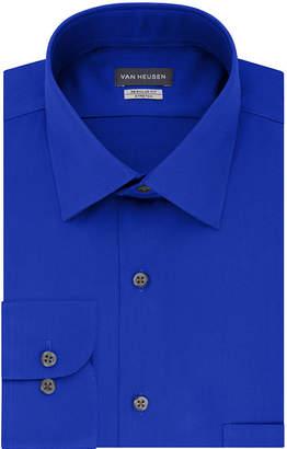 dad97d2e514d6 Van Heusen No Iron Stretch Lux Sateen Mens Spread Collar Long Sleeve  Stretch Dress Shirt