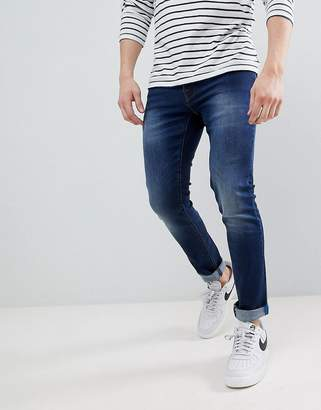 Voi Jeans Skinny Fit Jeans in Mid Blue