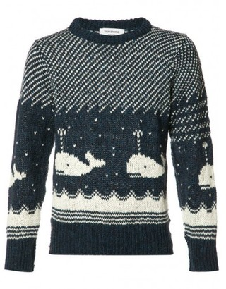 Thom Browne whale intarsia jumper $480 thestylecure.com