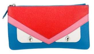 Fendi Monster Zip Pouch Turquoise Monster Zip Pouch