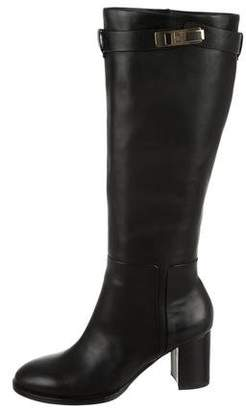 Halston Leather Knee-High Boots w/ Tags