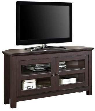Walker Edison Furniture, LLC WE Furniture 44 Wood Corner TV Media Stand Storage Console