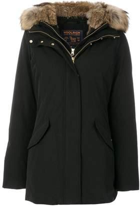 Woolrich fur-trim hooded padded coat