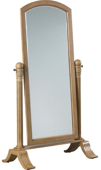 Swarthmore Bisque Cheval Mirror