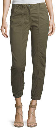 Veronica Beard Field Cropped Stretch-Cotton Cargo Pants