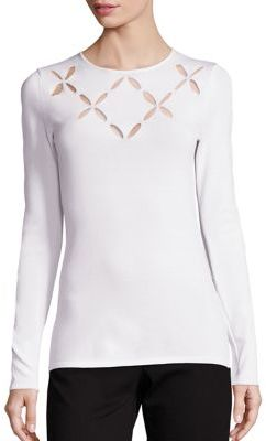 Bailey 44 Mergers Cross Cut Top $178 thestylecure.com
