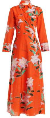 Diane von Furstenberg Floral Print Wrap Dress - Womens - Orange Print