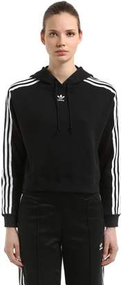 adidas Hooded French Terry Cropped Sweatshirt
