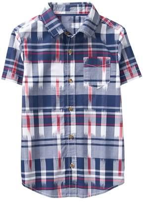 Crazy 8 Ikat Plaid Shirt
