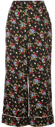 VIVETTA floral print flared trousers