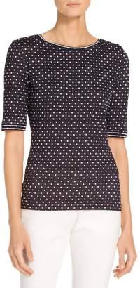 St. John Dot Print Jersey T-Shirt