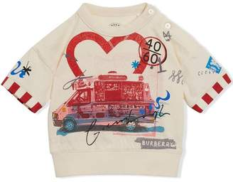 Burberry Postcard Motif Cotton T-shirt