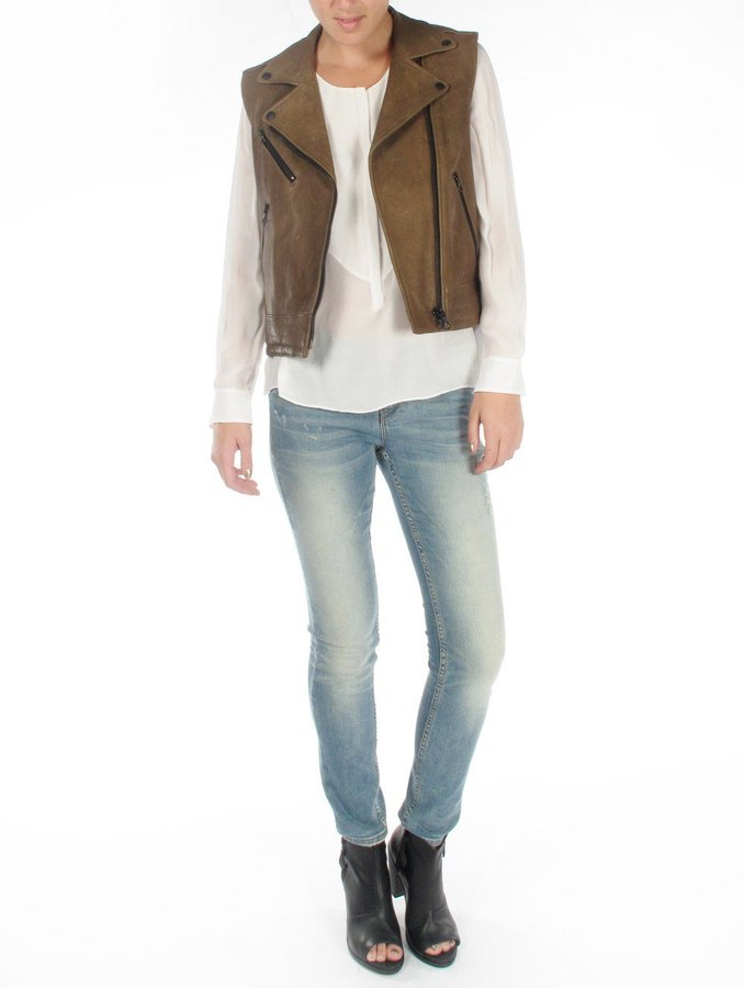 Rag and Bone Rag & Bone Bowery Moss Leather Jacket
