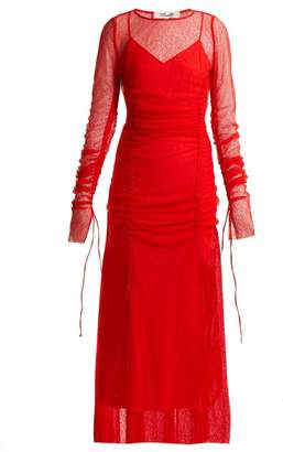 Diane von Furstenberg Ruched Lace Gown - Womens - Red