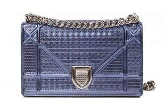 Christian Dior Diorama Blue Leather Handbag