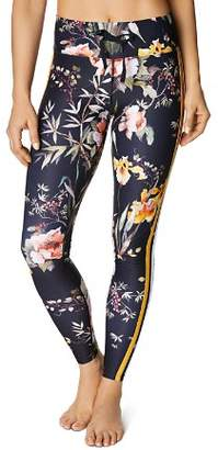 Betsey Johnson Track Stripe Floral Leggings