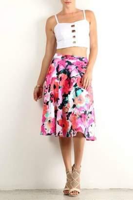 Lara Floral a-Line Skirt