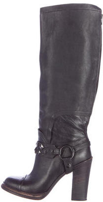 Vera Wang Stud Embellished Knee-High Boots $145 thestylecure.com