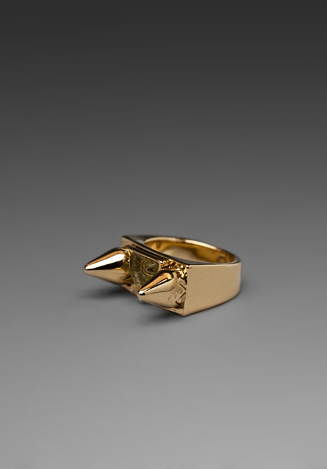 House of Harlow Cone and Resin Pyramid Cocktail Ring