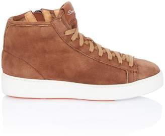 Santoni Shearling-Lined Sneaker