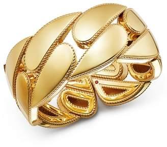 Roberto Coin 18K Yellow Gold Gourmette Cuff Bangle