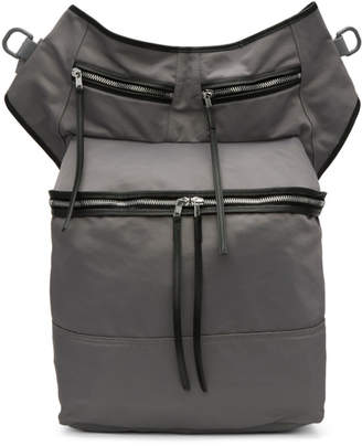 Rick Owens Grey Techno Trench Messenger Bag