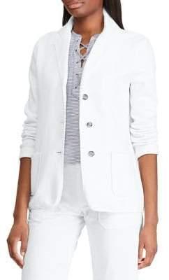 Chaps Straight-Fit Cotton Blend Blazer