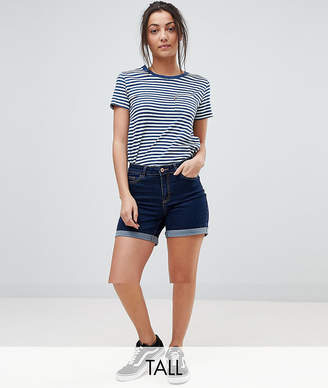 Noisy May Tall Roll Hem Denim Short
