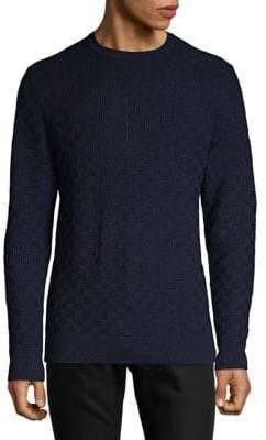 Karl Lagerfeld Basketweave Crewneck Sweater