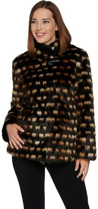 Dennis Basso Platinum Collection Faux Fur Short Jacket