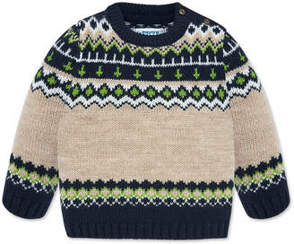 Mayoral Boy's Fair Isle Knit Sweater, Size 12-36 Months