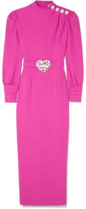 Alessandra Rich - Crystal-embellished Crepe Midi Dress - Fuchsia