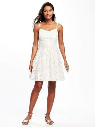 Fit & Flare Eyelet Lace Dress for Women $39.94 thestylecure.com