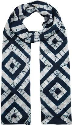 eskandar Tie-Dye Silk Scarf