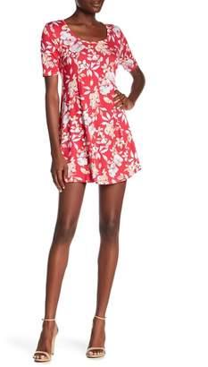 Loveappella Printed Short Sleeve Dress