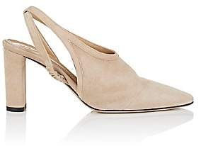 The Row Women's Camil Suede Slingback Pumps-Natural Beige