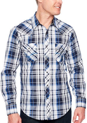 Ely Cattleman Ely 1878 Long Sleeve Textured Plaid With Contrast Stitch
