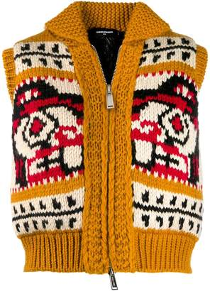 DSQUARED2 intarsia knit gilet