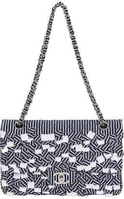 One Kings Lane Vintage Chanel Blue & White Sequins Flap Bag