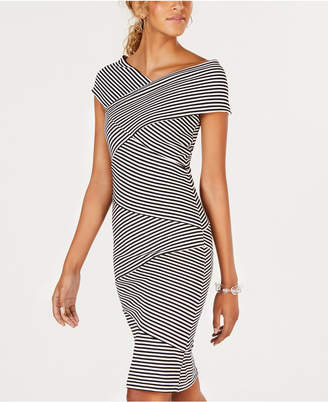 XOXO Juniors' Crisscross Bodycon Dress