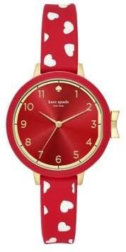 Kate Spade Park Heart Three-Hand Watch