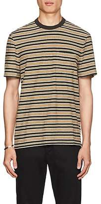 James Perse Men's Striped Slub Cotton T-Shirt - Green