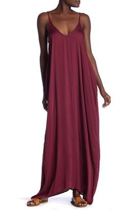Love Stitch Challis V-Neck Maxi Dress