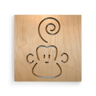 Pin It Spot On Square Animal Series Wall Art - Marcel The Monkey