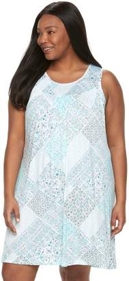Croft & Barrow Plus Size Smocked Nightgown