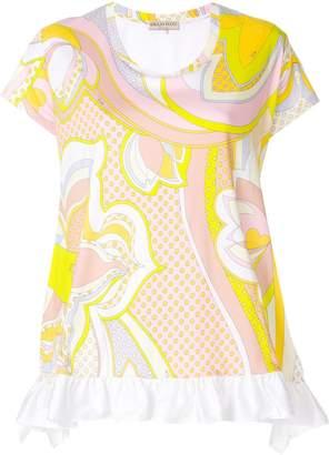 Emilio Pucci ruffled-hem printed blouse
