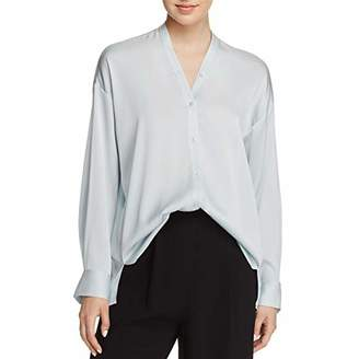 Vince Women's Trapunto V-Neck Blouse